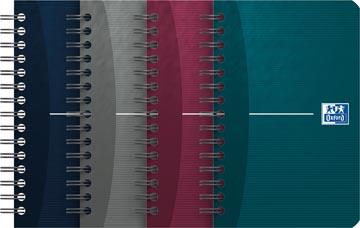 Oxford Office Essentials notitieboekje, 180 bladzijden, ft 9 x 14 cm, geruit 5 mm, geassorteerde kleuren