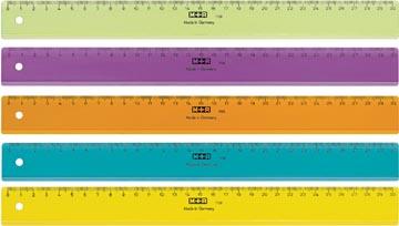 M+R lat, uit plastic, in geassorteerde kleuren, 30 cm
