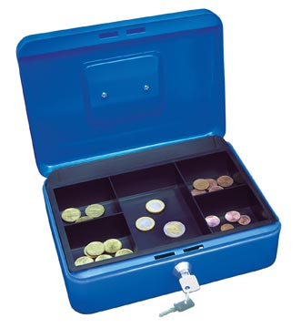 Wedo geldkoffer, ft 25 x 18 x 9 cm, blauw