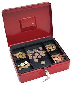 Wedo geldkoffer, ft 30 x 24 x 9 cm, rood