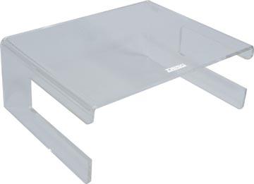 Desq beeldschermhouder uit acryl, met toetsenbordhouder