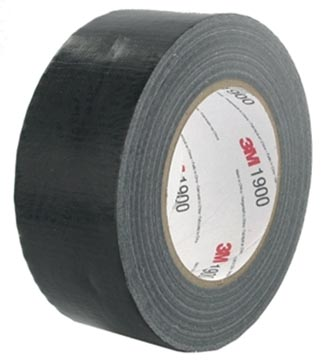 3M duct tape 1900, ft 50 mm x 50 m, zwart