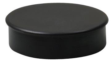 Nobo magneten diameter van 30 mm, zwart, blister van 4 stuks