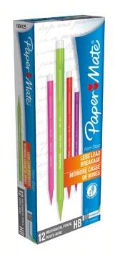Paper Mate vulpotlood Non-Stop, doos van 12 stuks in geassorteerde kleuren