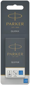 Parker Quink inktpatronen koningsblauw, blister met 10 stuks