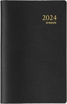 Brepols agenda Delta Genova 6-talig, zwart, 2022