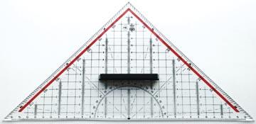 M+R geodriehoek, 32 cm