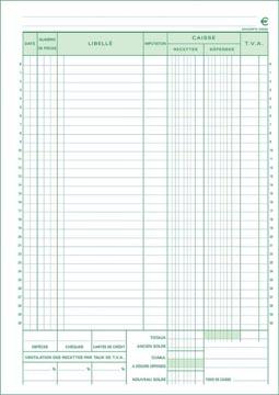 Exacompta kasboek, ft A4, Franstalig, dupli (50 x 2 vel)