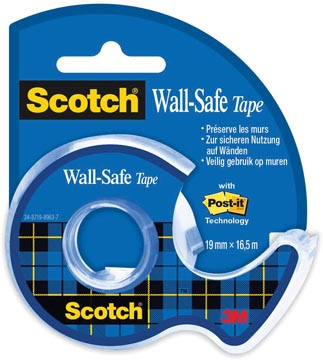 Scotch Wall-Safe tape ft 19 mm x 16,5 m, op blister