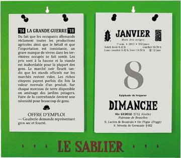 Rugplaat uit kunststof voor Le Sablier Géant, ft A3