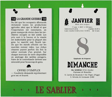Rugplaat uit kunststof voor Le Sablier Géant, ft A5