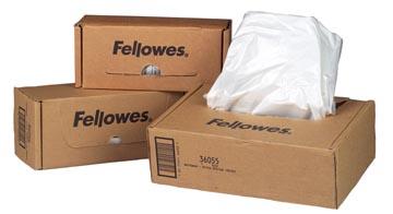 Fellowes opvangzakken van 165 liter voor papiervernietigers, pak van 50 zakken