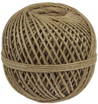 Vlaskoord touw uit 3 draden, bol van 140 g, +/- 65 m