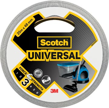 Scotch ducttape Universal, ft 48 mm x 25 m, zilver