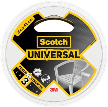 Scotch ducttape Universal, ft 48 mm x 25 m, wit