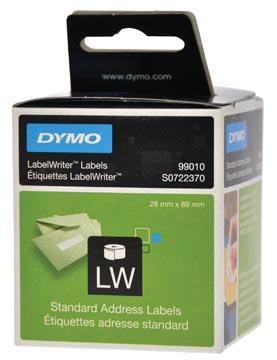 Dymo etiketten LabelWriter ft 89 x 28 mm, wit, 260 etiketten