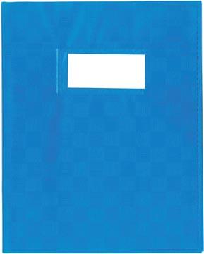 schriftomslagen blauw