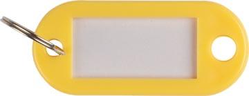 Q-Connect sleutelhanger, pak van 10 stuks, geel