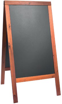 Securit stoepbord Woody mahonie ft 70 x 125 cm